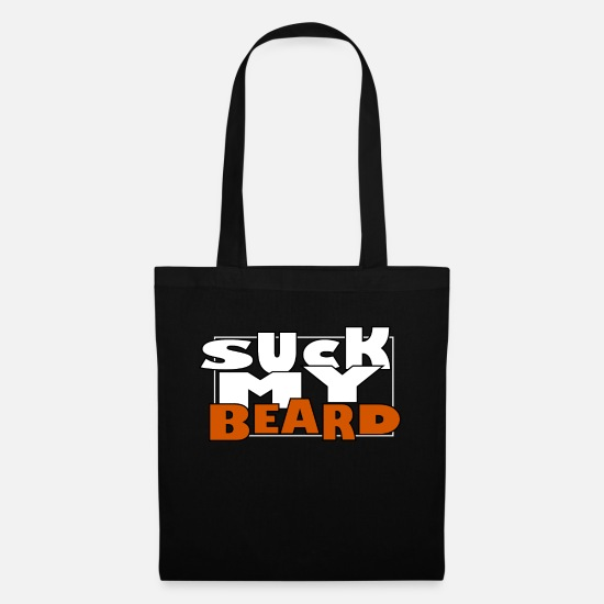 Cool Sayings Bags & Backpacks - Beard, men, beards, whiskers - Tote Bag black