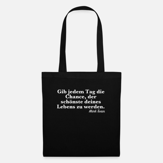 Quotation Bags & Backpacks - Mark Twain - Famous quote - Tote Bag black