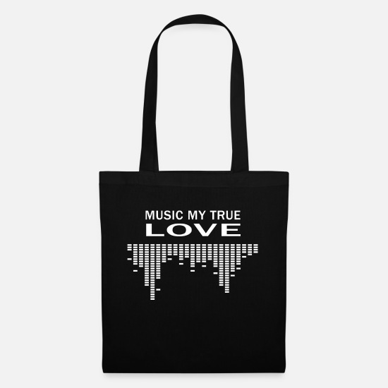 Rap Bags & Backpacks - Musician love saying techno hip hop pop gift - Tote Bag black