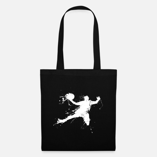 Slam Bags & Backpacks - Slam dunking basketball player - Tote Bag black