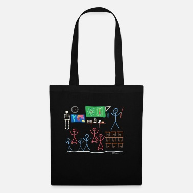Learning Classroom stickman teaching school - Tote Bag