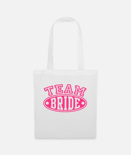 Marie Bags & Backpacks - TEAM BRIDE - Tote Bag white