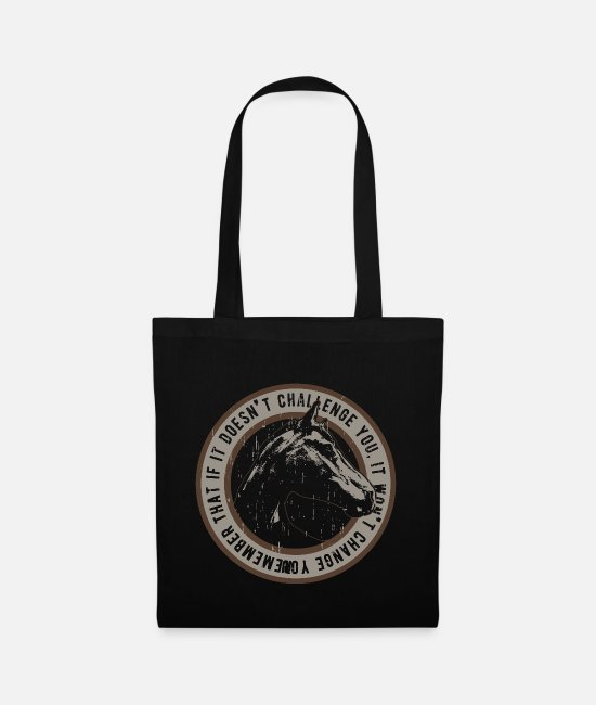 Horse Bags & Backpacks - Horse, horses - Tote Bag black