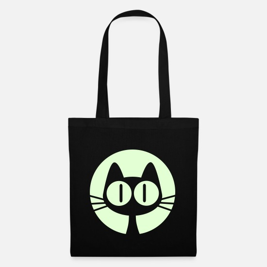 Cartoon Bags & Backpacks - Moon Cat Cartoon by Cheerful Madness!! online shop - Tote Bag black