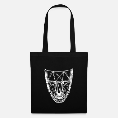 3d A scary white 3D mask - Tote Bag