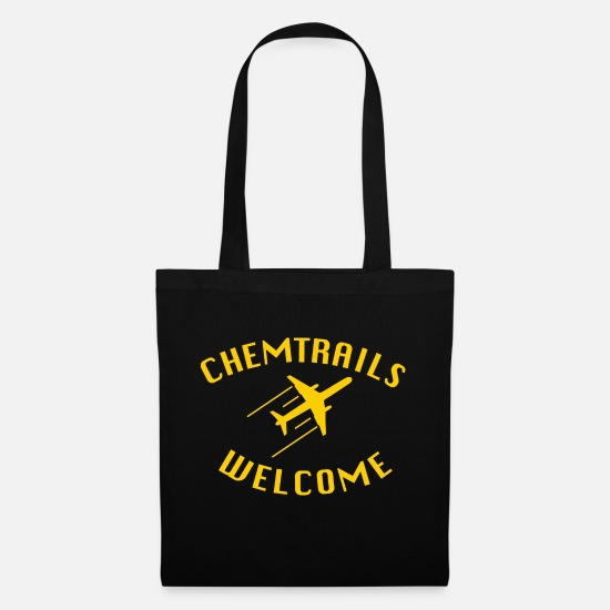 Federal Republic Of Germany Bags & Backpacks - Chemtrails Welcome Shirt - Conspiracy Theory - Tote Bag black