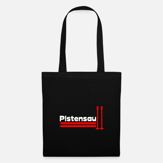 Ski Bags & Backpacks - pistensau - Tote Bag black