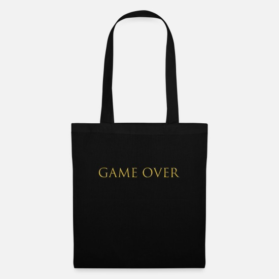 Bride Bags & Backpacks - game over - Tote Bag black