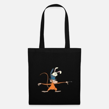 Little Brother Magician Monkey in Yoga Stand Scales Yoga Pose Gift - Tote Bag