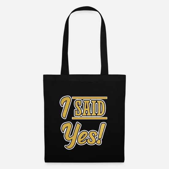 Bride Bags & Backpacks - Junggesellinnen Party Braut I said Yes Damen Frau - Tote Bag black