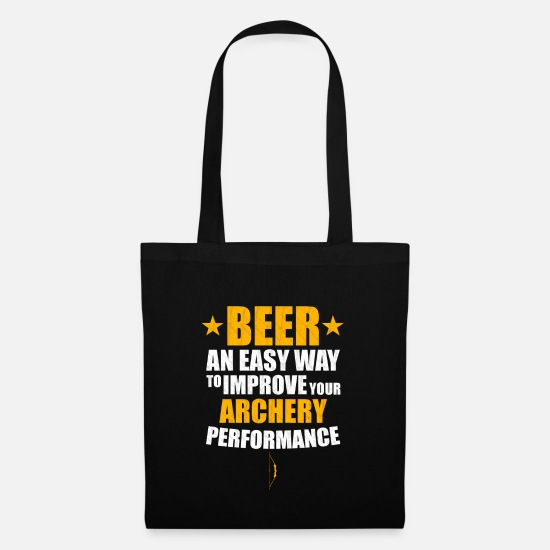 Birthday Bags & Backpacks - Beer and archery - Tote Bag black