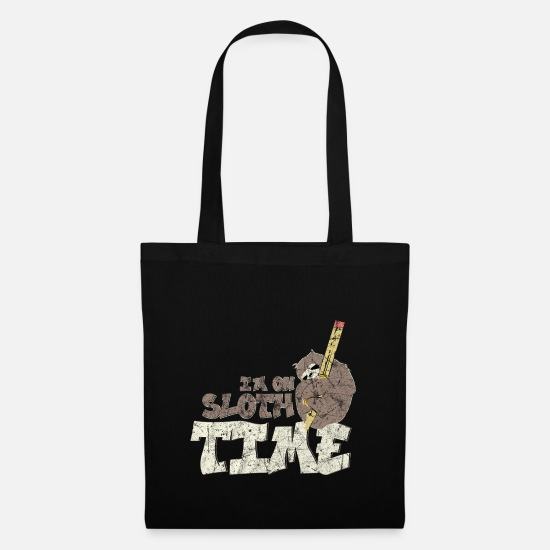 Birthday Bags & Backpacks - Procrastination sloth - Tote Bag black