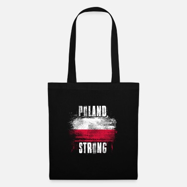 Splatter Poland Strong Distressed Graffiti Flag - Tote Bag