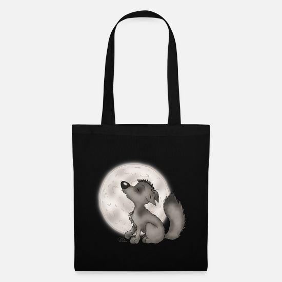 Comic Bags & Backpacks - Wölfchen - Tote Bag black