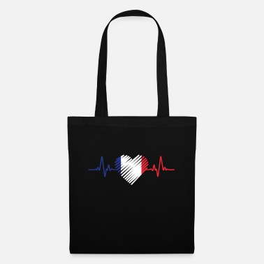 Artist France heartbeat - Tote Bag