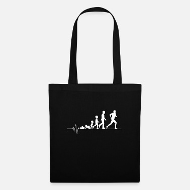 Sportsman Heartbeat jogging running race sport gift - Tote Bag