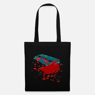 Razor Blade Razor Blade - razor blade with blood - Tote Bag