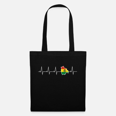 Heartbeat I love Bolivia - heartbeat - Tote Bag