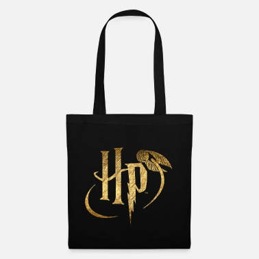 Harry Potter Small Logo Gold - Tygväska