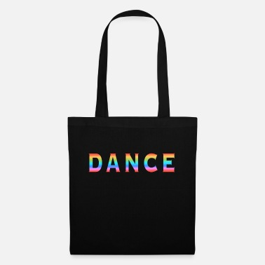 Multi Coloured Multi Coloured Dance Typography - Tote Bag