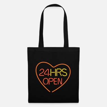 Wedding Neon: 24 HRS open heart - Tote Bag