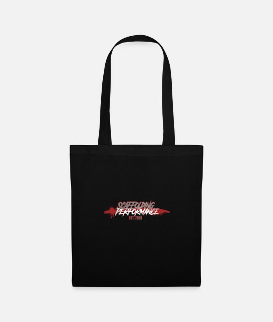 Sheet Metal Worker Bags & Backpacks - Splatter - SCAFFOLDING PERFORMANCE - Tote Bag black