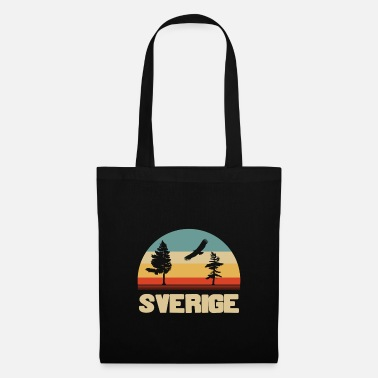Two sweden in colors with two trees - gift - Tote Bag