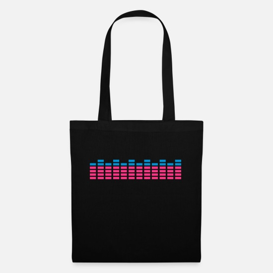 Music Bags & Backpacks - dj sound equalizer audio - Tote Bag black