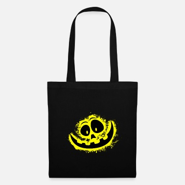 Carved Halloween yellow and black outline - Tote Bag