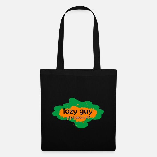 Boring Bags & Backpacks - Lazy boy laziness - Tote Bag black