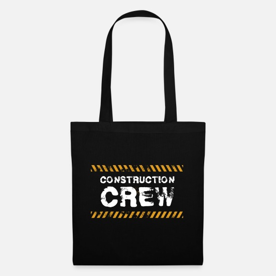 Construction Bags & Backpacks - Construction Worker Construction Site Construction Crew Gift - Tote Bag black