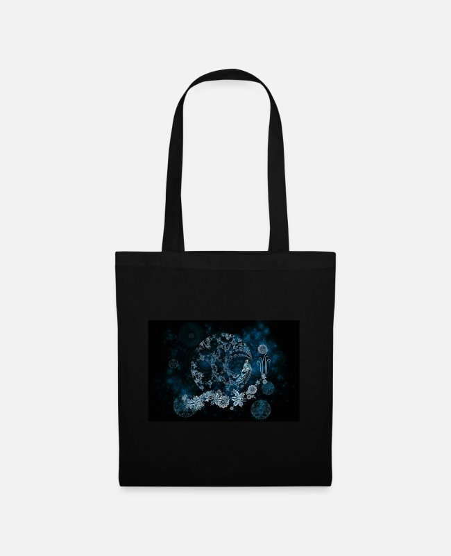 Escape Bags & Backpacks - Frosty Flower - Tote Bag black