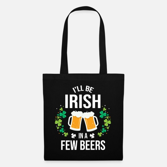Irish Beer Bags & Backpacks - St Patricks Day Irish Beer Gift Idea - Tote Bag black
