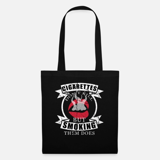 Gift Idea Bags & Backpacks - Smoking smoker whistle gift cigarettes tobacco - Tote Bag black