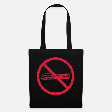 Butcher prohibited no bacon shield zone ham meat l - Tote Bag