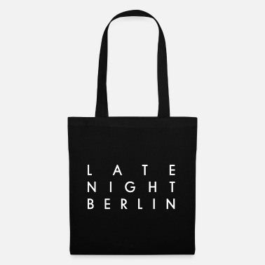 Late Night Berlin Logo Weiß - Stoffbeutel
