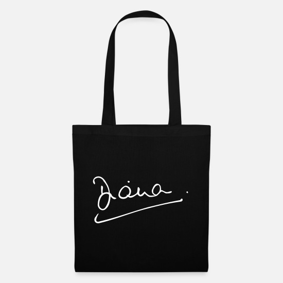 Charles Bags & Backpacks - Diana, Princess of Wales signature - Tote Bag black