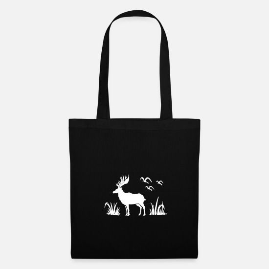 Stag Bags & Backpacks - Deer in the wild - Tote Bag black