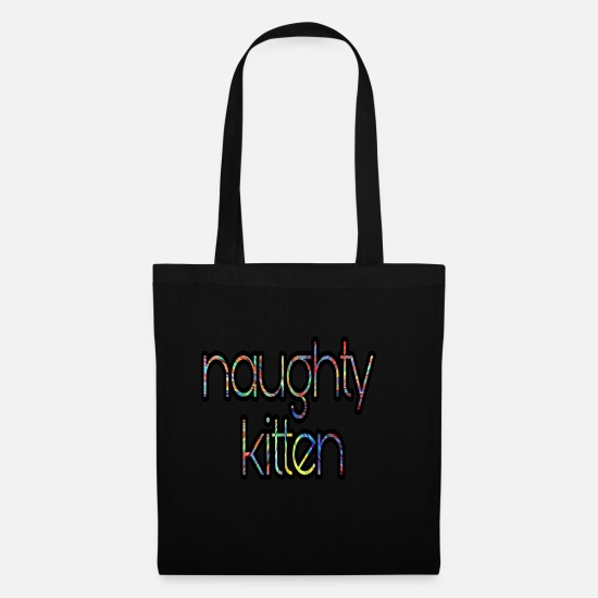 Women Bags & Backpacks - Naughty kitten - Tote Bag black