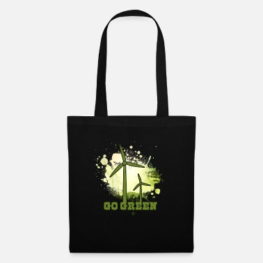 Nuclear Power Wind turbine Wind power against nuclear power Gift - Tote Bag