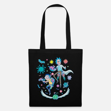 Rick And Morty Fight in Space - Tote Bag