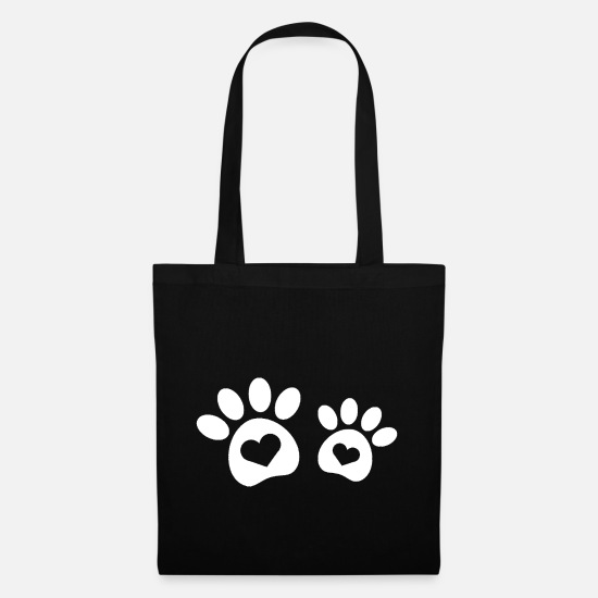 Love Bags & Backpacks - DOG PAWS - Tote Bag black