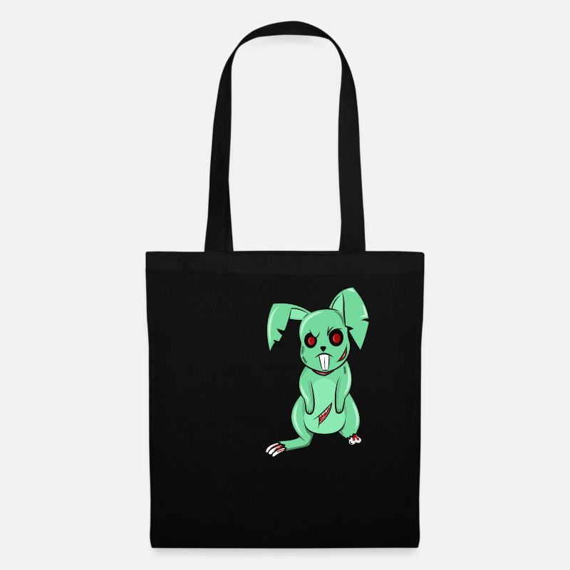 Zombie Apocalypse Bags & Backpacks - Bad Easter Bunny Zombie Bunny Happy Easter Undead - Tote Bag black