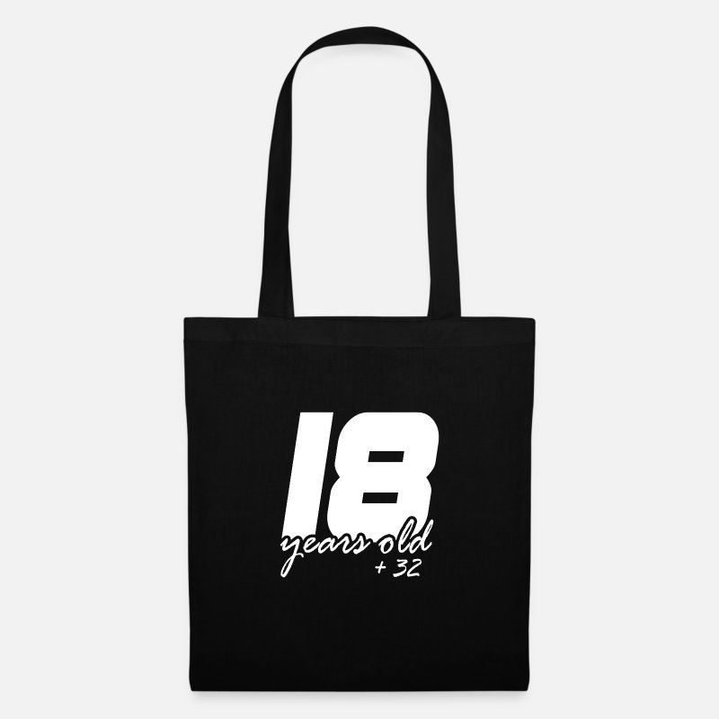 Birthday Bags & Backpacks - 18 plus 32 - Tote Bag black