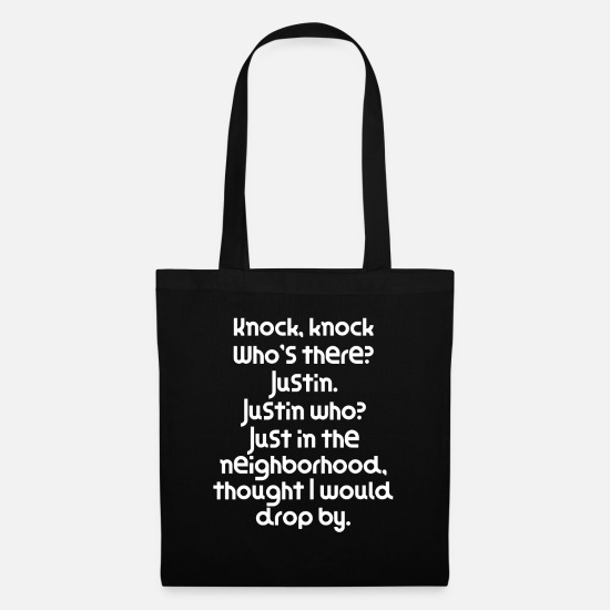 Funny Quotes Taschen & Rucksäcke - Funny Knock Knock Joke Knock knock Who s there - Stoffbeutel Schwarz
