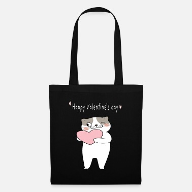 Declaration Of Love Valentine's day cat - Tote Bag