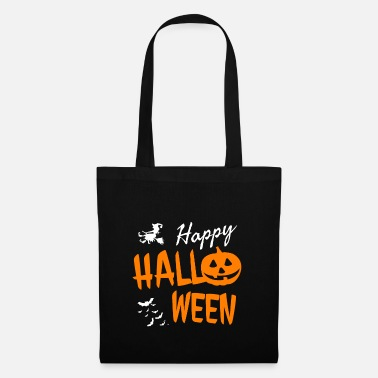 Invitation Happy halloween costume pumpkin witch bats - Tote Bag