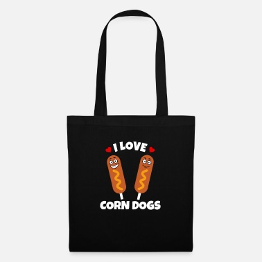 Corn Dog Corn Dog Lover Funny Corn Dog Face - Tote Bag
