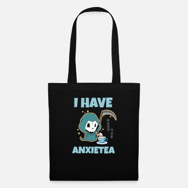 Cute Pastel Goth Aesthetic Anime Anxiety Tea Pun - Tote Bag