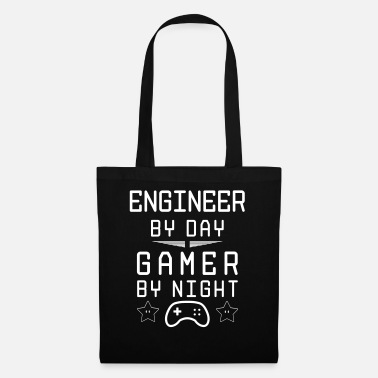 engineer by day gamer by night - Tote Bag